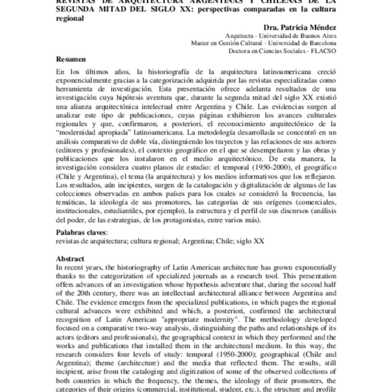 24 MENDEZ Revistas de arquitectura argentinas y chilenas.pdf