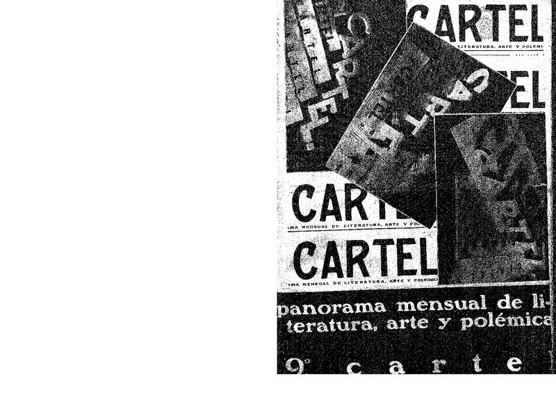 Cartel : panorama mensual de literatura, arte y polémica