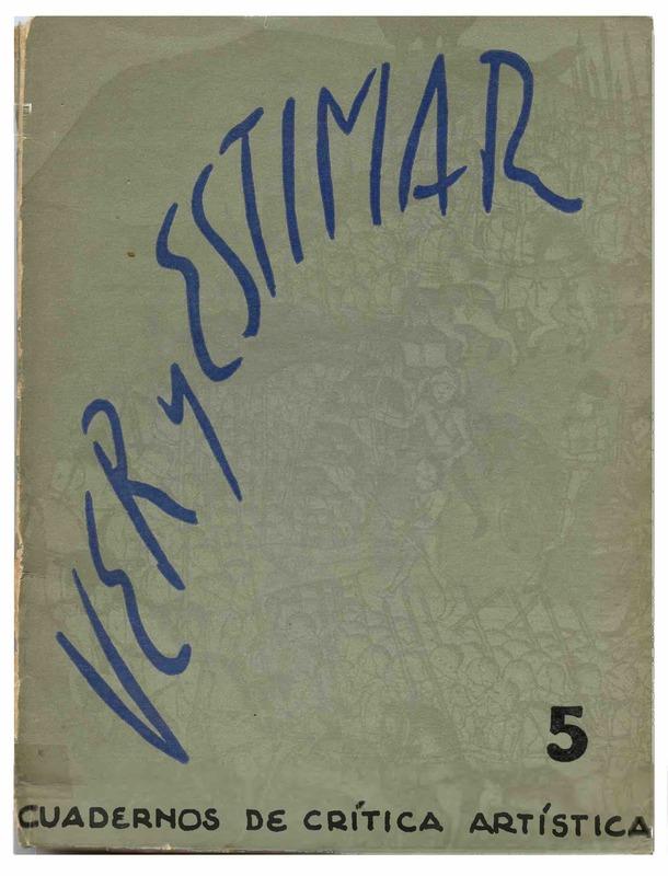 Ver y Estimar : cuadernos de crítica artística